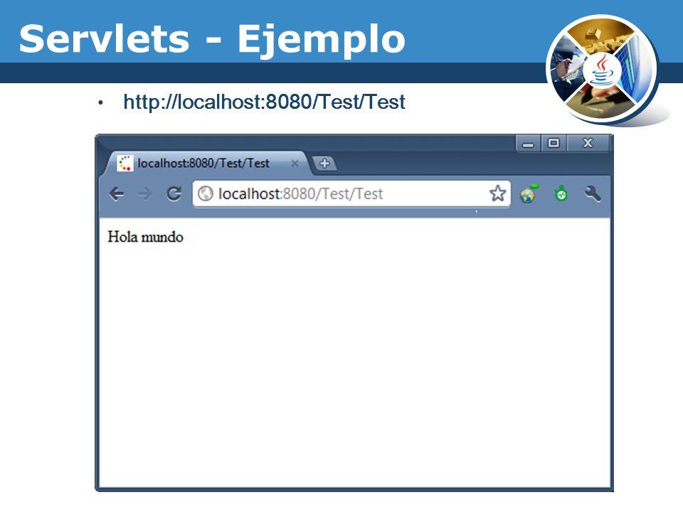 Servlets - Ejemplo http://localhost:8080/Test/Test