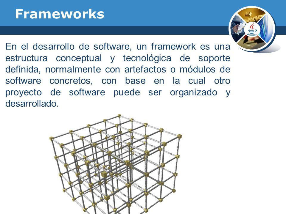 En el desarrollo de software, un framework es una estructura conceptual y tecnológica de soporte definida, normalmente con artefactos o módulos de sof