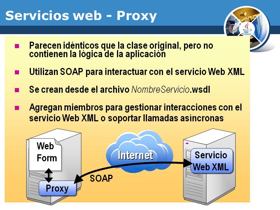 Servicios web - SOAP Simple Object Access Protocol SOAP es un protocolo para el intercambio de información en un ambiente descentralizado y distribuido.