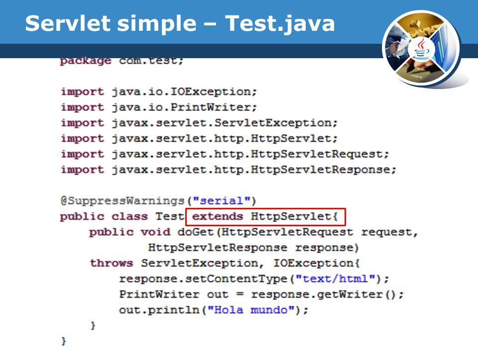 Servlet simple – Test.java