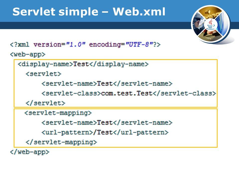 Servlet simple – Web.xml