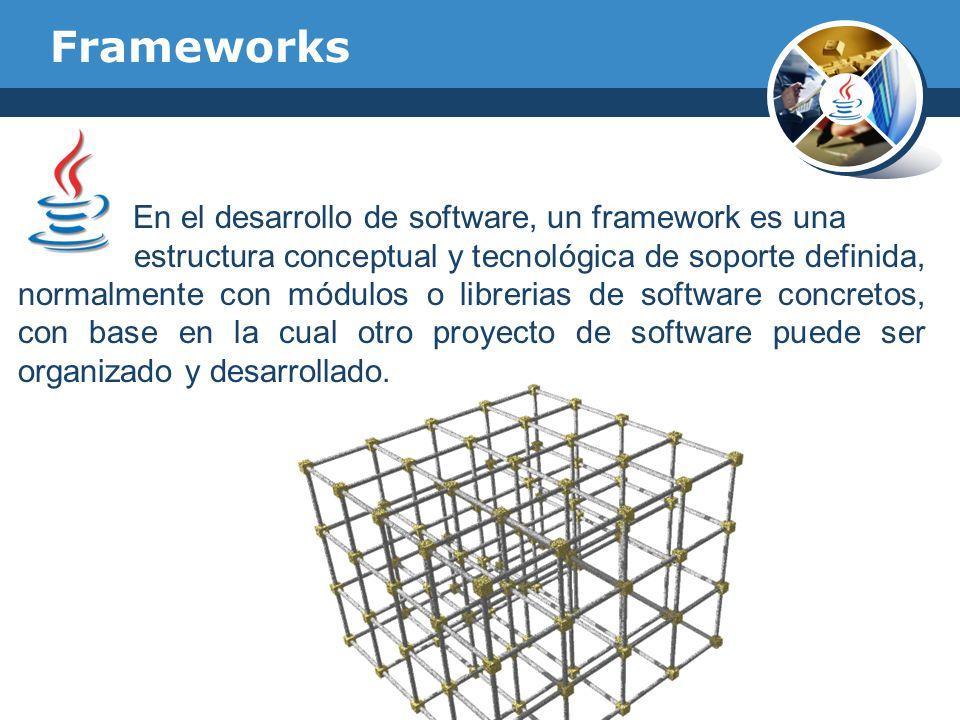 En el desarrollo de software, un framework es una estructura conceptual y tecnológica de soporte definida, normalmente con módulos o librerias de soft