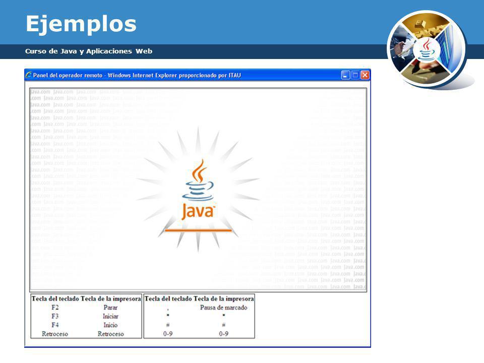 Ejemplos Curso de Java y Aplicaciones Web
