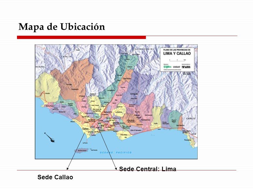 Mapa de Ubicación Sede Callao Sede Central: Lima