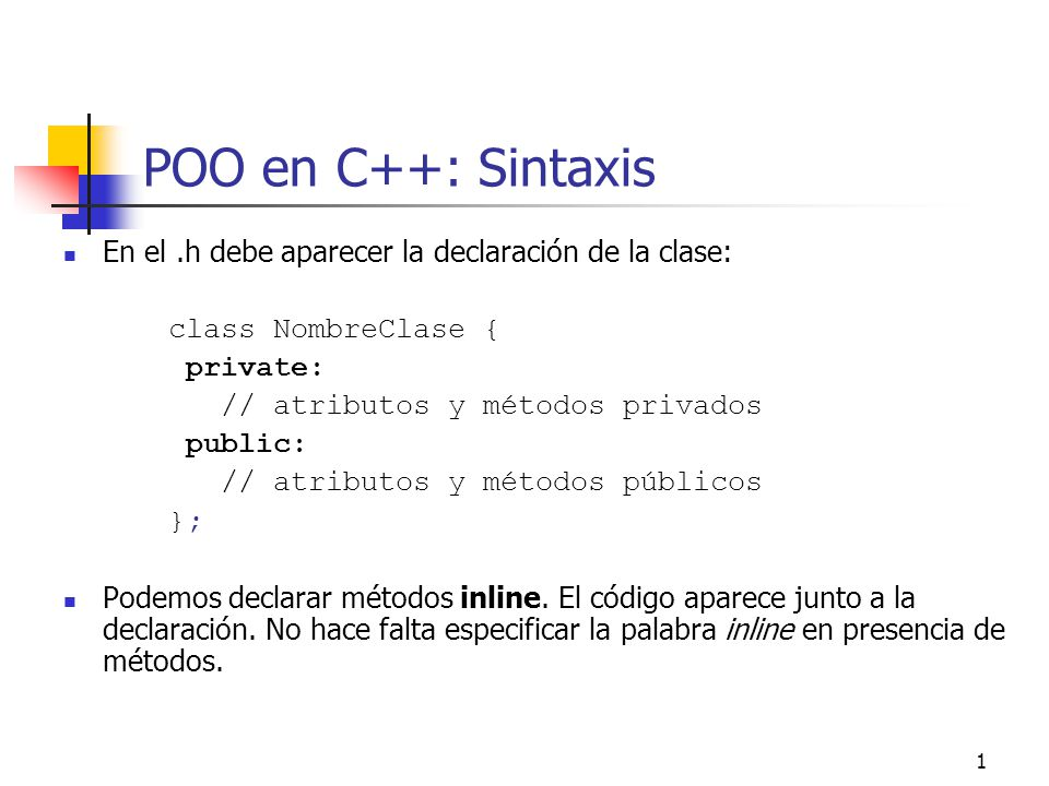 22 Constructora por copia void RacionalP::suma(RacionalP* r); racionalP* r=new RacionalP(2,3); racionalP* s=new RacionalP(4,5); r->suma(s); // no se hace copia