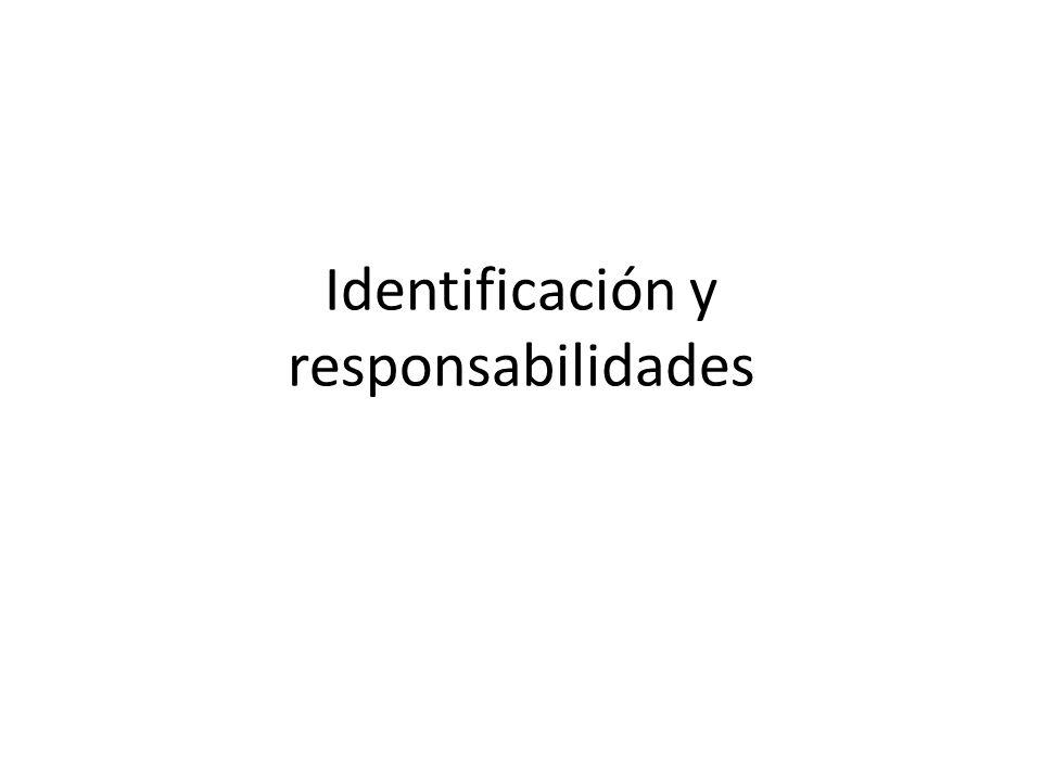 Identificación y responsabilidades