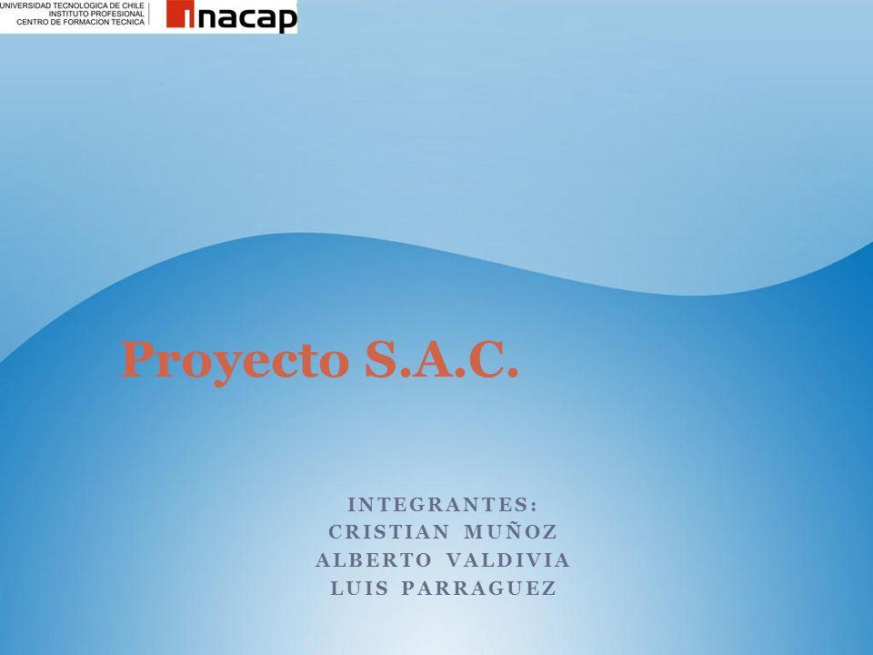 INTEGRANTES: CRISTIAN MUÑOZ ALBERTO VALDIVIA LUIS PARRAGUEZ Proyecto S.A.C.