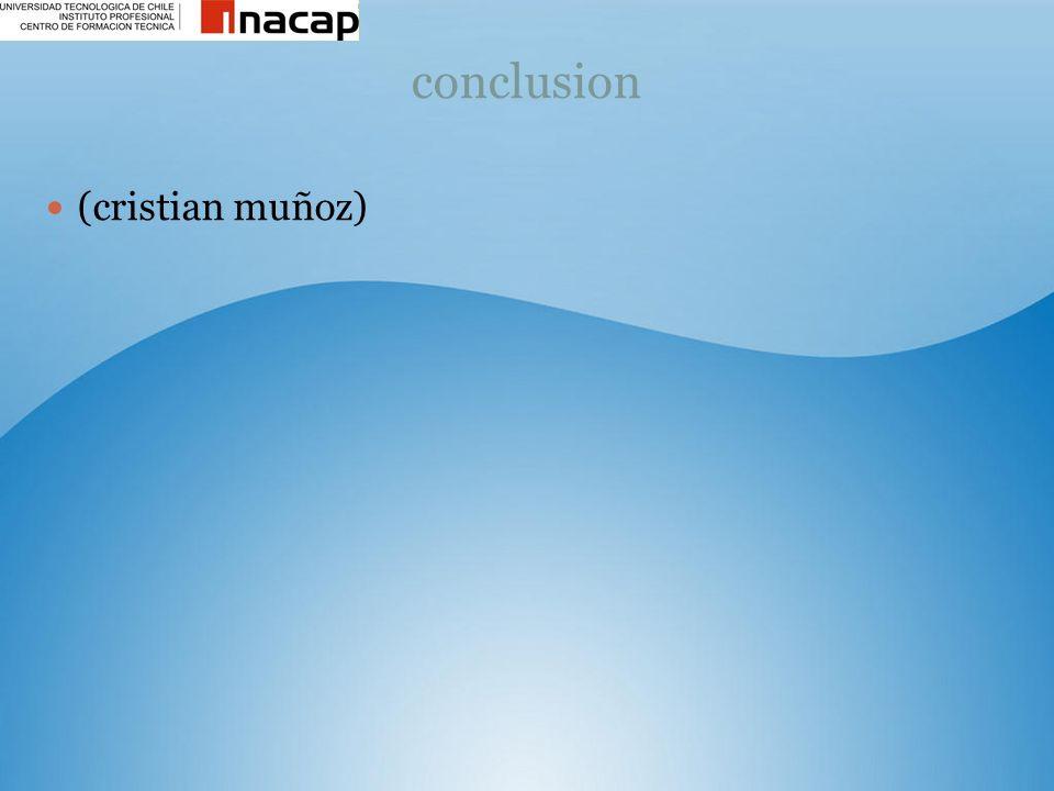 conclusion (cristian muñoz)