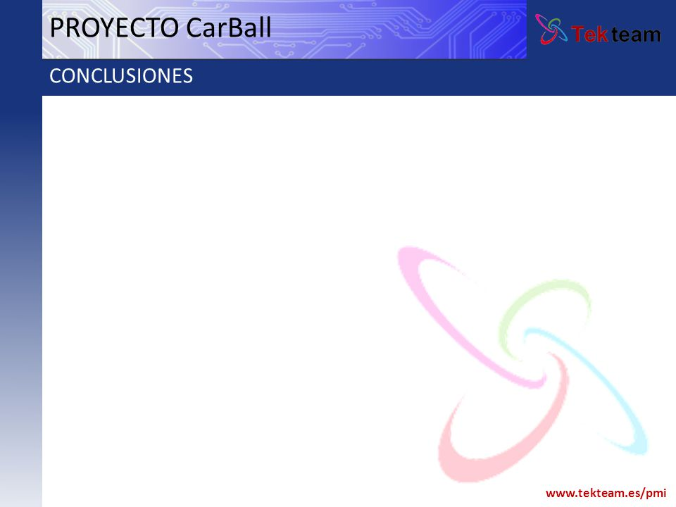 www.tekteam.es/pmi PROYECTO CarBall CONCLUSIONES
