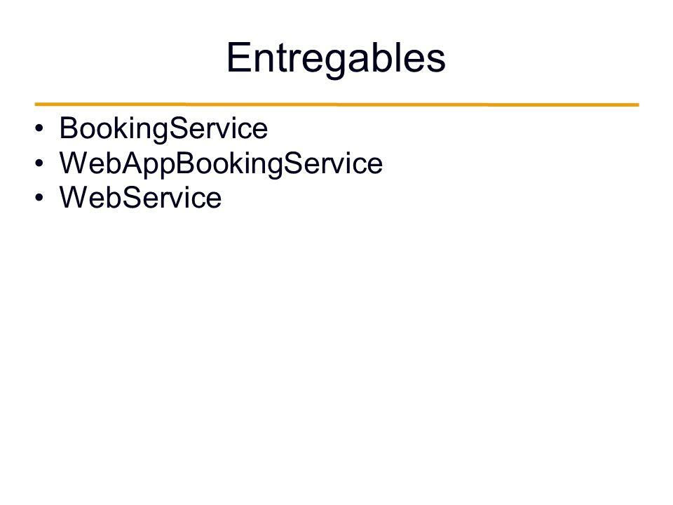 Entregables BookingService WebAppBookingService WebService