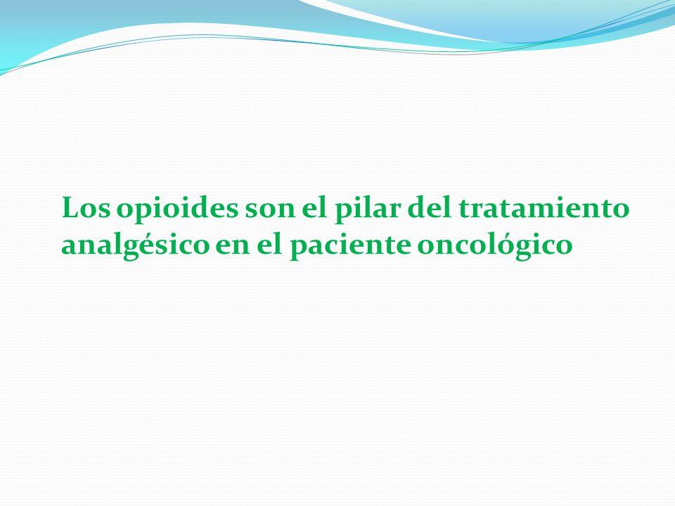 Los opioides son el pilar del tratamiento analgésico en el paciente oncológico
