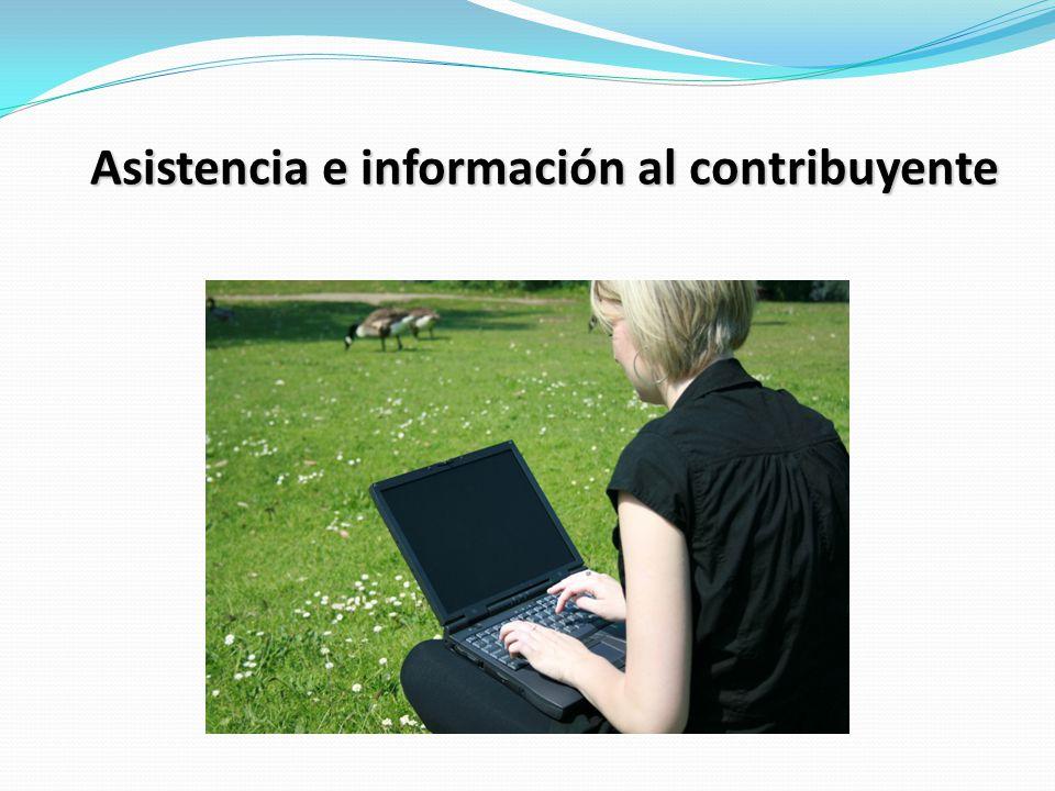 Asistencia e información al contribuyente