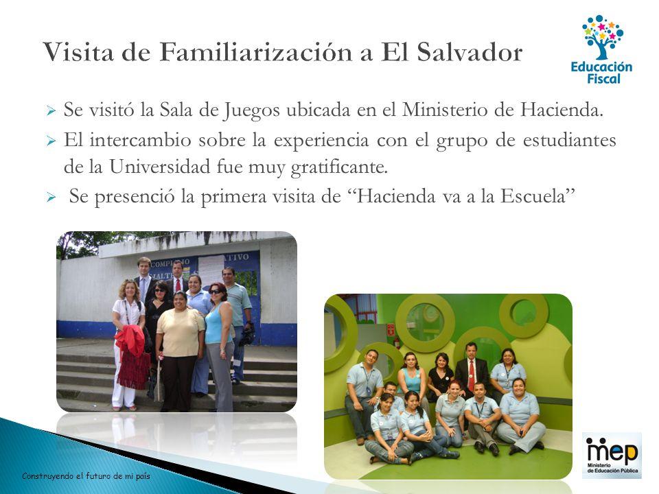 Se visitó la Sala de Juegos ubicada en el Ministerio de Hacienda. El intercambio sobre la experiencia con el grupo de estudiantes de la Universidad fu