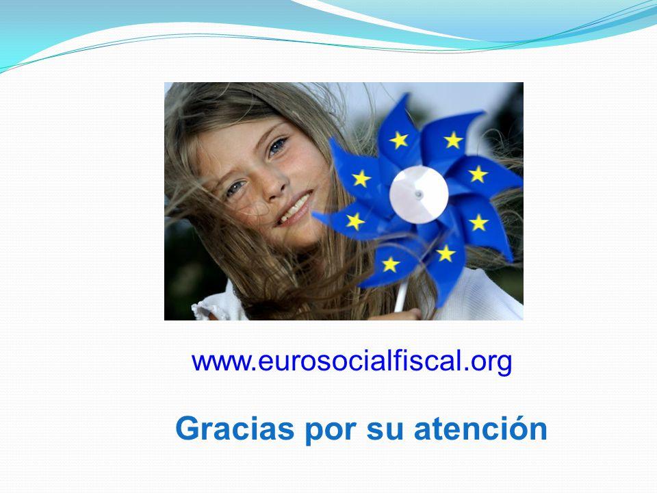 Gracias por su atención www.eurosocialfiscal.org