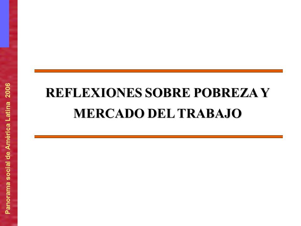 Panorama social de América Latina 2006 REFLEXIONES SOBRE POBREZA Y MERCADO DEL TRABAJO