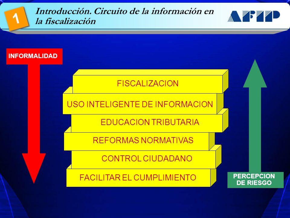 FACILITAR EL CUMPLIMIENTO CONTROL CIUDADANO INFORMALIDAD REFORMAS NORMATIVAS PERCEPCION DE RIESGO 1 Introducción. Circuito de la información en la fis