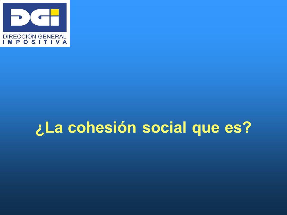 ¿La cohesión social que es?