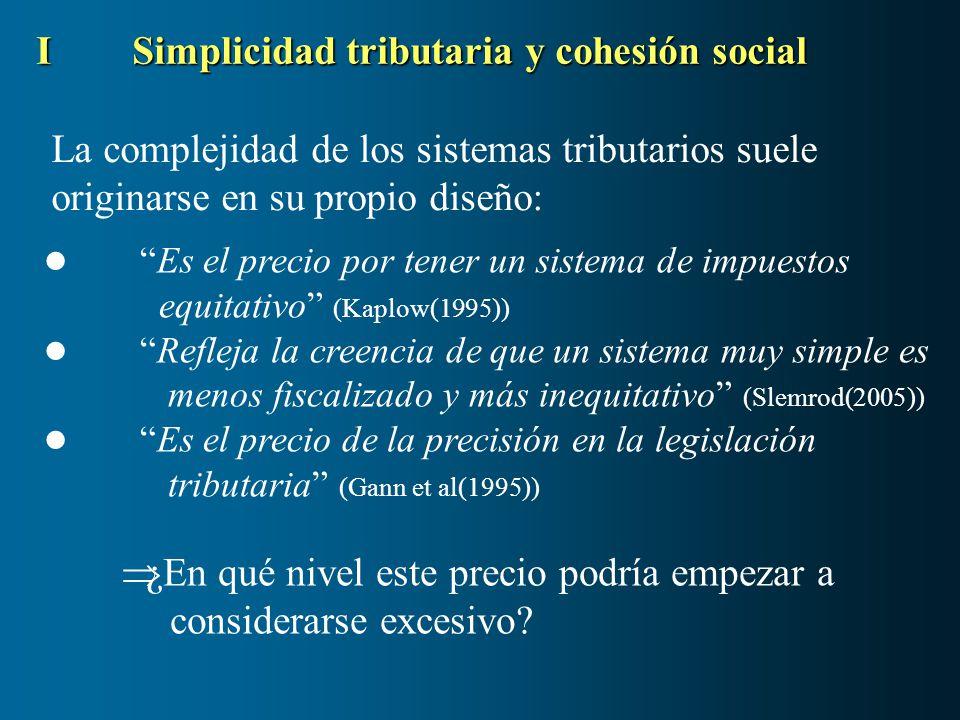 La complejidad de los sistemas tributarios suele originarse en su propio diseño: ISimplicidad tributaria y cohesión social Es el precio por tener un s