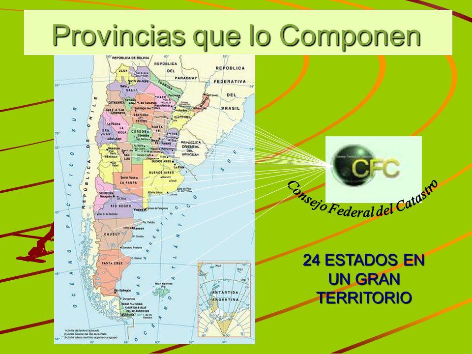Provincias que lo Componen 24 ESTADOS EN UN GRAN TERRITORIO