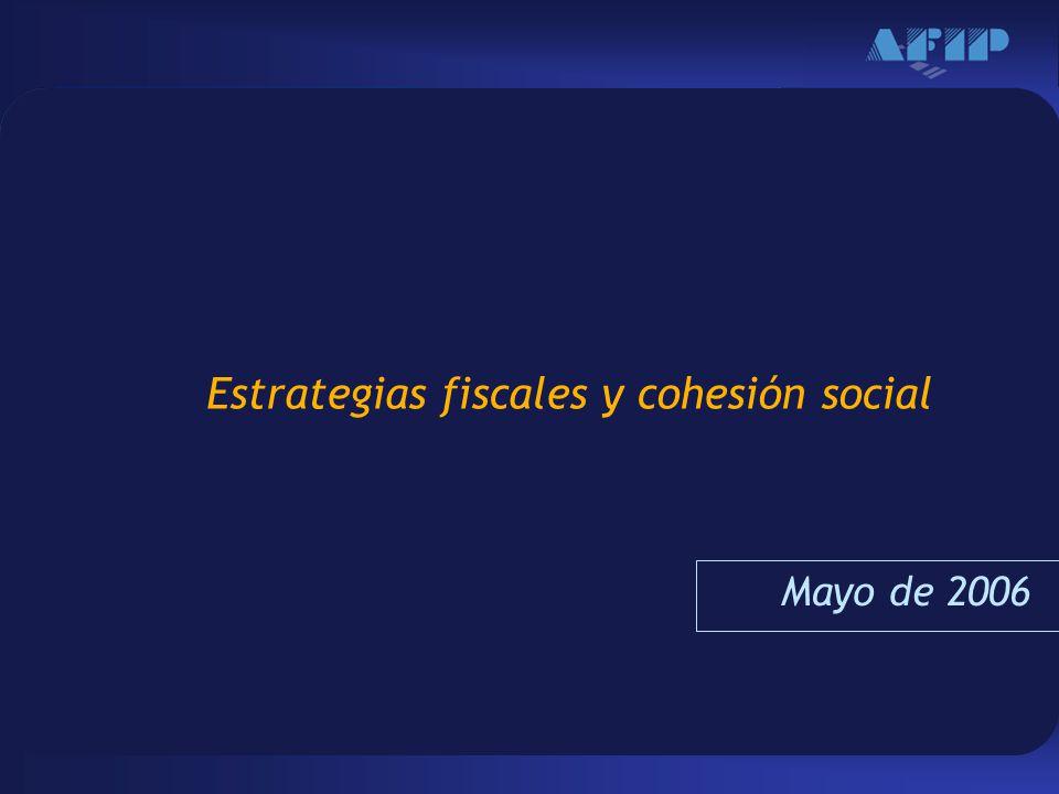Haga clic para modificar el estilo de texto del patrón –Segundo nivel Tercer nivel –Cuarto nivel »Quinto nivel 1 Estrategias fiscales y cohesión social Mayo de 2006