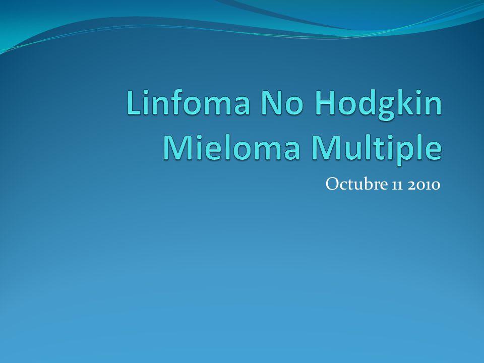 Mieloma Multiple Tratamiento Quimioterapia Melfalan Inmunomoduladores (talidomida, lenalidomida) Dexametasona Inhibidores del Proteosoma (bortezomib) Trasplante de Medula Osea Bifosfonados