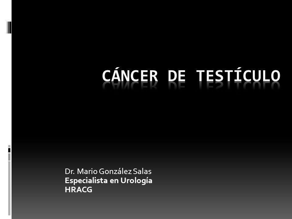 GENERALIDADES.Es el cáncer más común en hombres de 15 a 35 años.