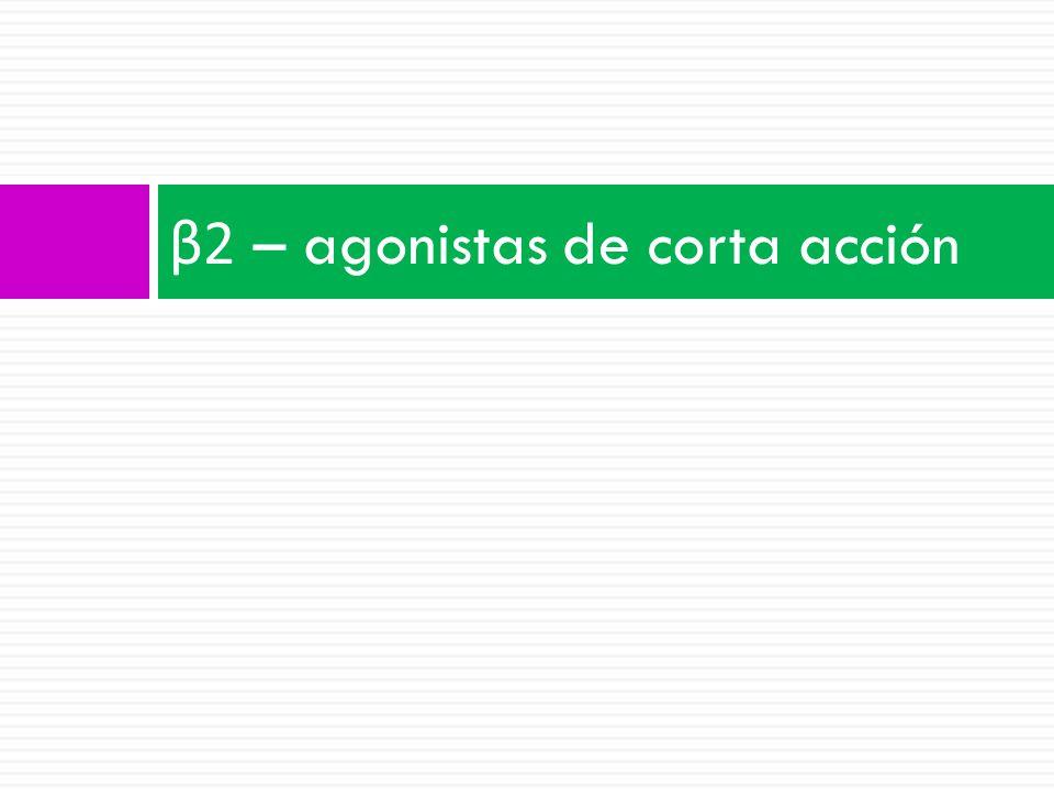 β 2 – agonistas de corta acción