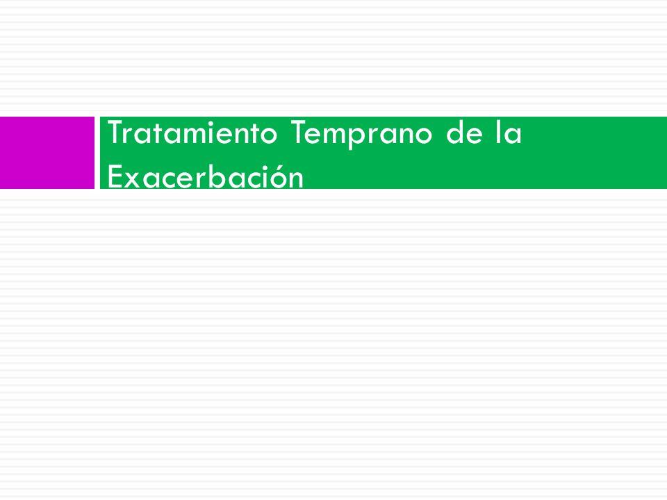 Tratamiento Temprano de la Exacerbación