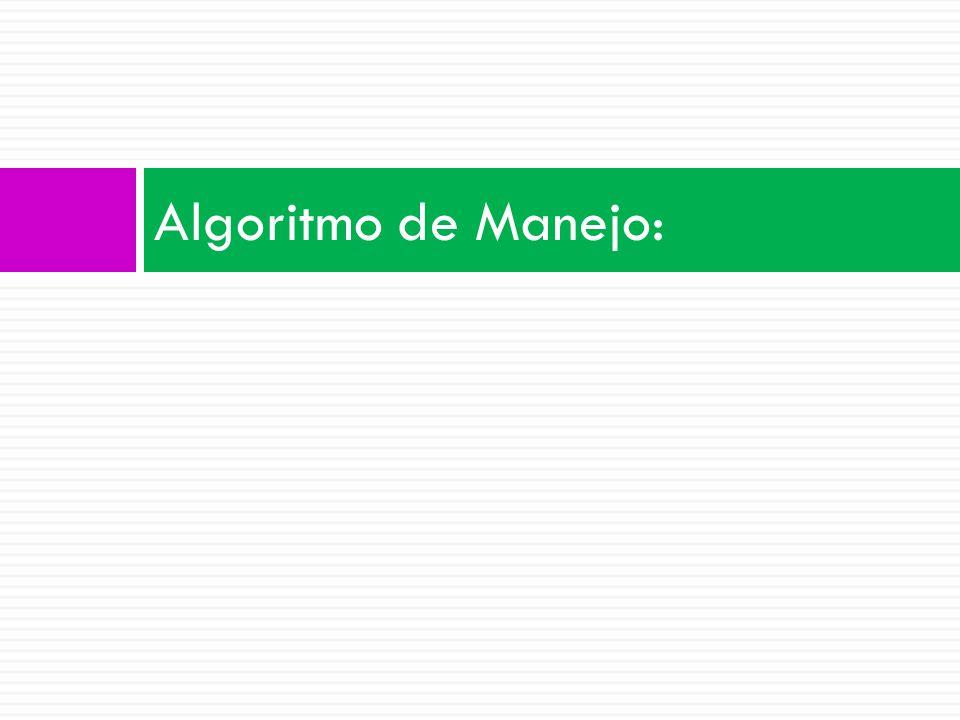 Algoritmo de Manejo: