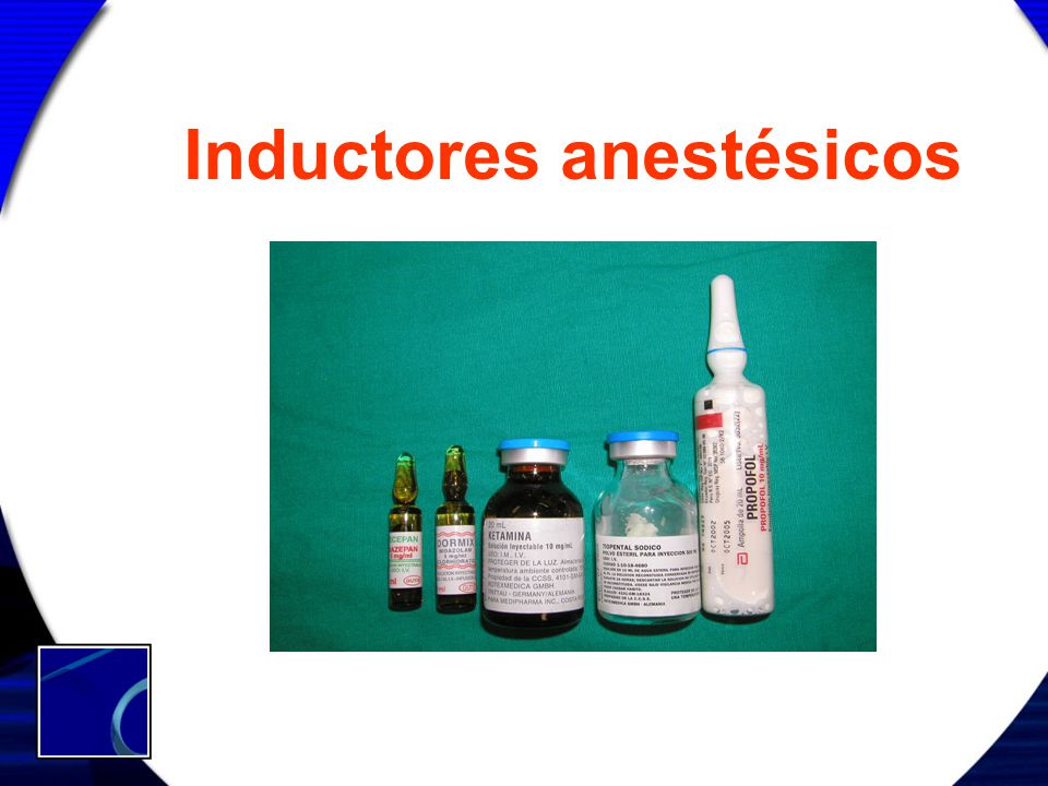 Inductores anestésicos