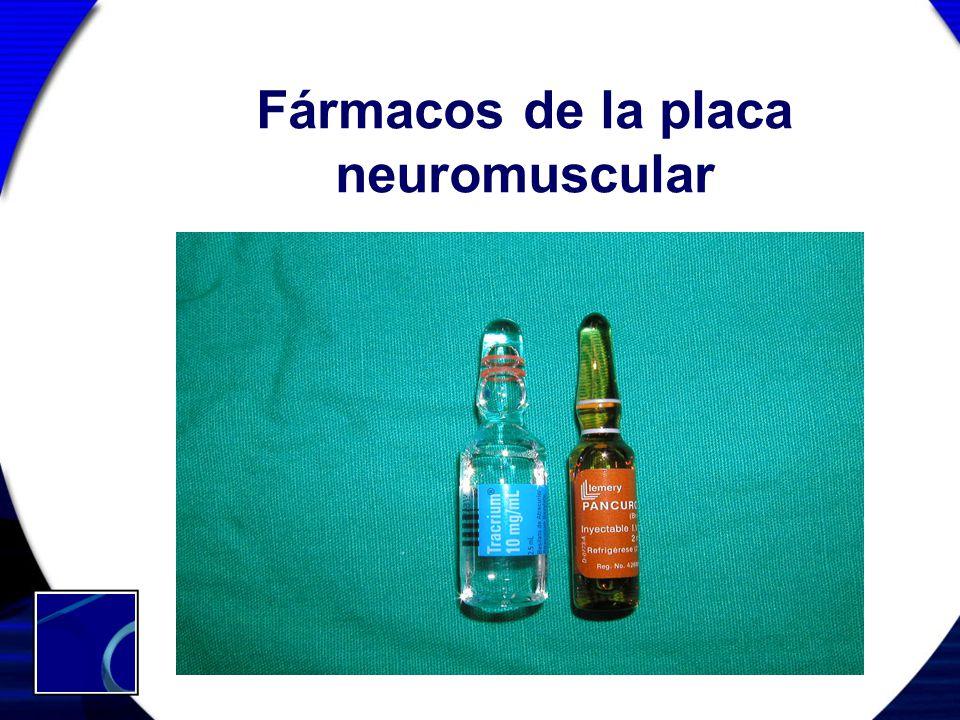 Fármacos de la placa neuromuscular