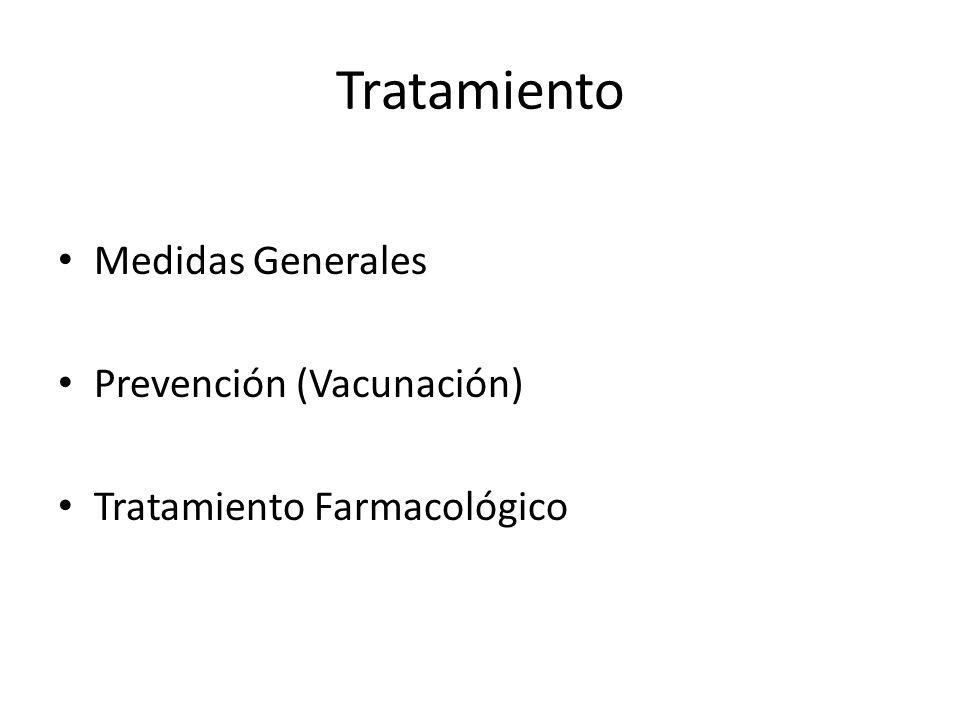 Tratamiento Medidas Generales Prevención (Vacunación) Tratamiento Farmacológico
