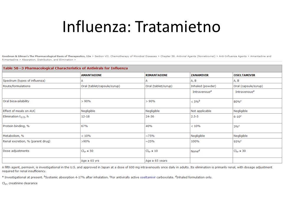 Influenza: Tratamietno
