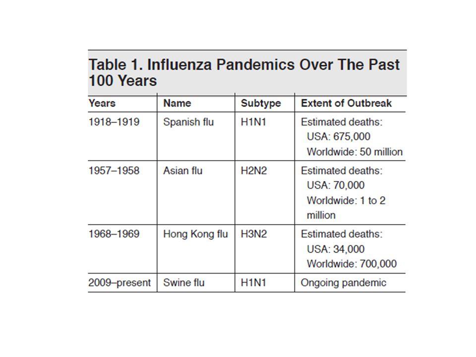 Complicaciones de infección por Infuenza Comunes – Bronquitis – Otitis – Neumonía Primaria Secundaria Muy Raras