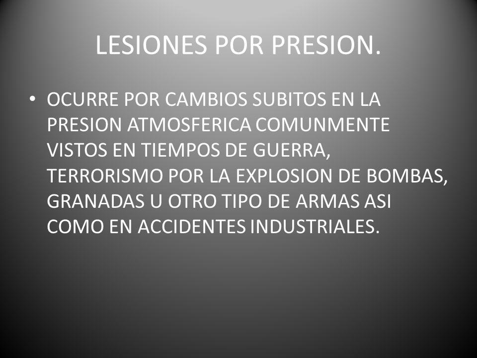 LESIONES POR PRESION.