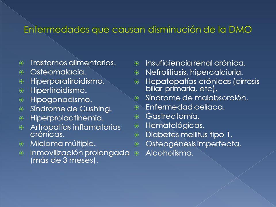 Trastornos alimentarios.Osteomalacia. Hiperparatiroidismo.