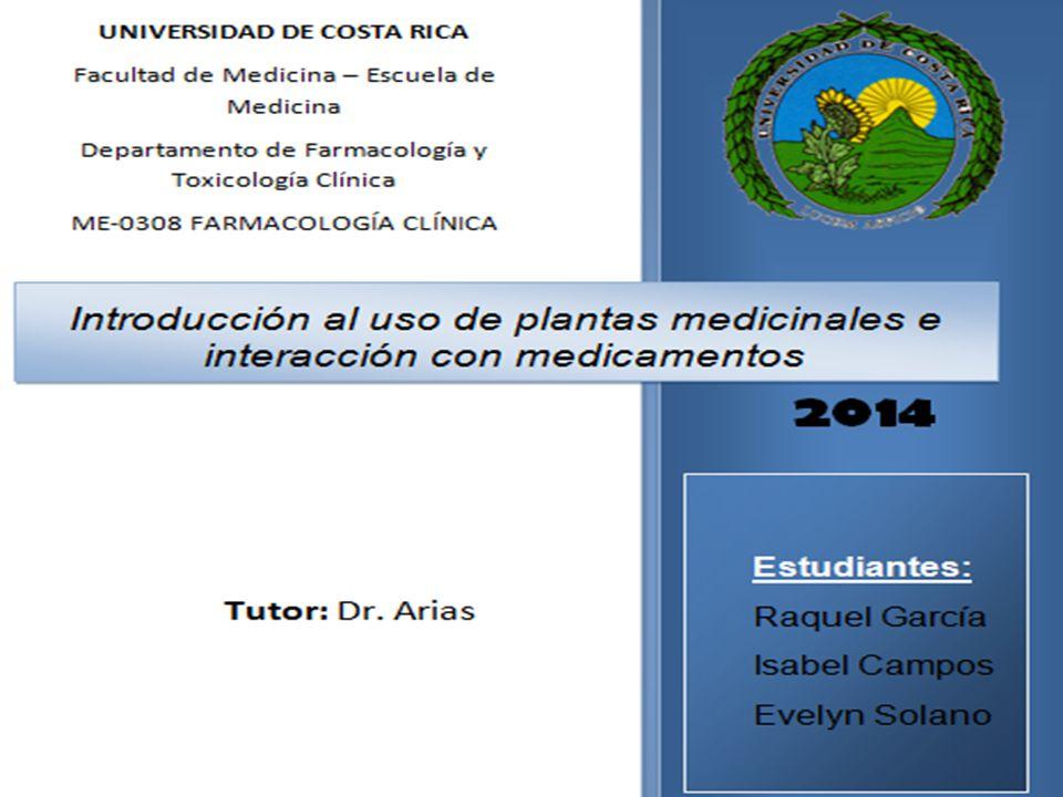 PLANTAS MEDICINALES USOS E INTERACCIONES FARMACOLÓGICAS