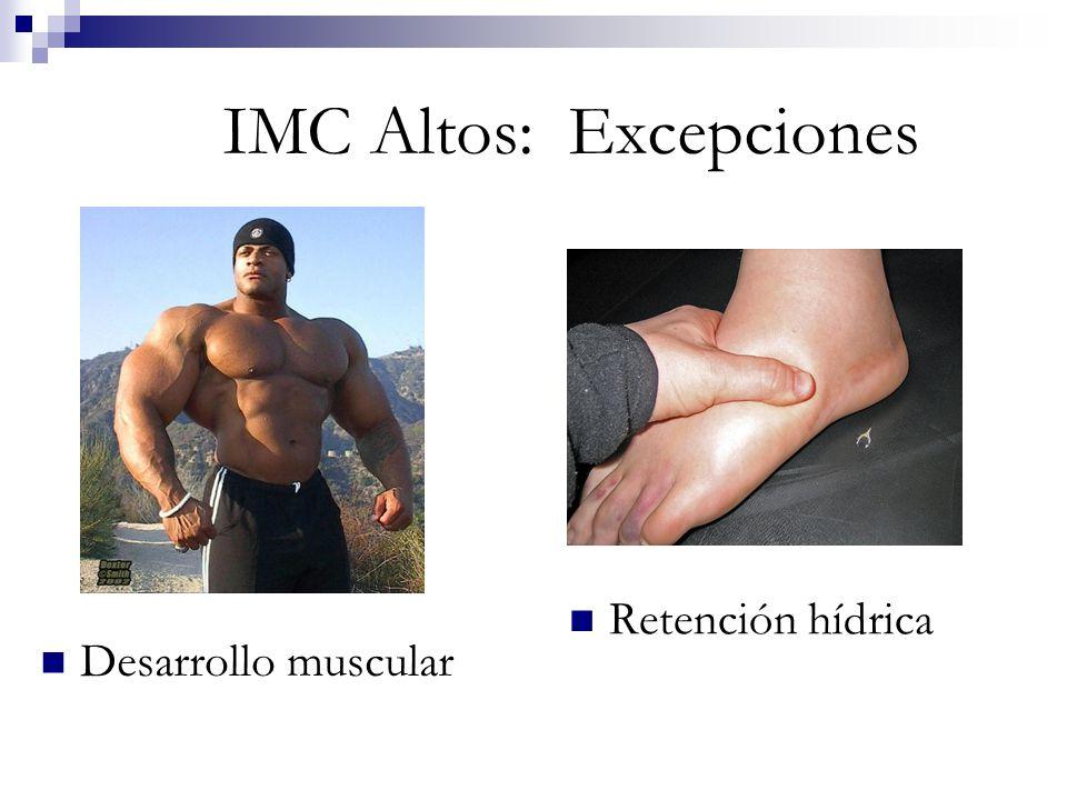 IMC Altos: Excepciones Desarrollo muscular Retención hídrica