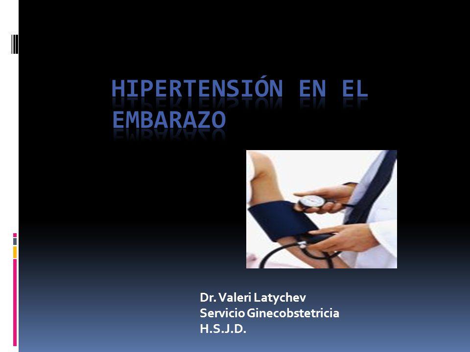 Definiciones Hipertensión crónica: Presencia de HT antes del embarazo o que se Dx antes de la semana 20 de gestación HT que persiste más de 42 días posparto.( 12 semanas)