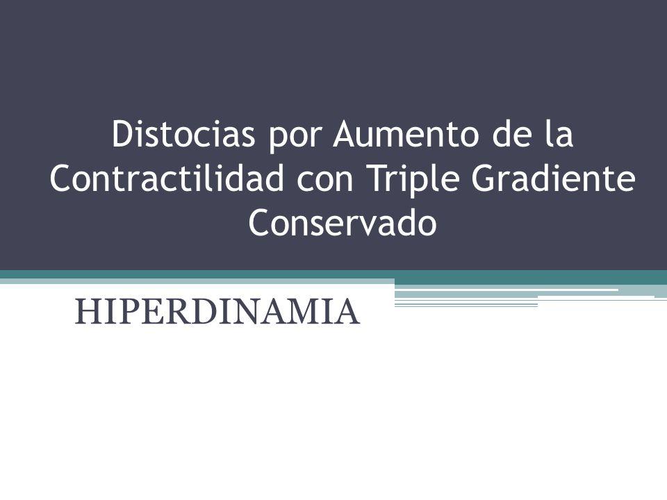 Distocias por Aumento de la Contractilidad con Triple Gradiente Conservado HIPERDINAMIA