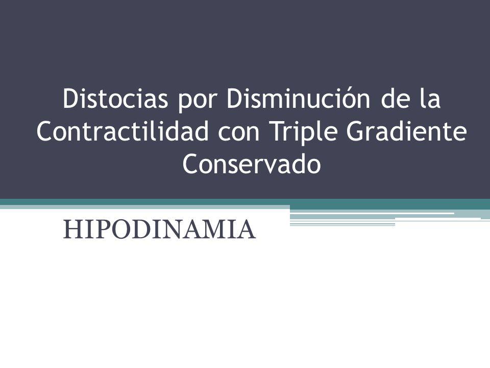 Distocias por Disminución de la Contractilidad con Triple Gradiente Conservado HIPODINAMIA