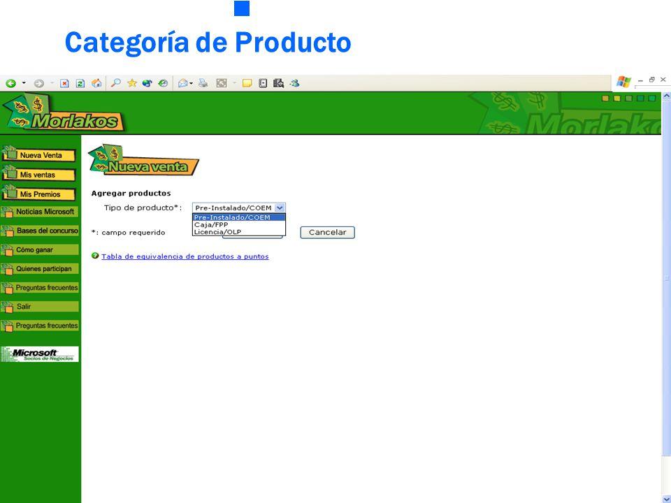 Categoría de Producto