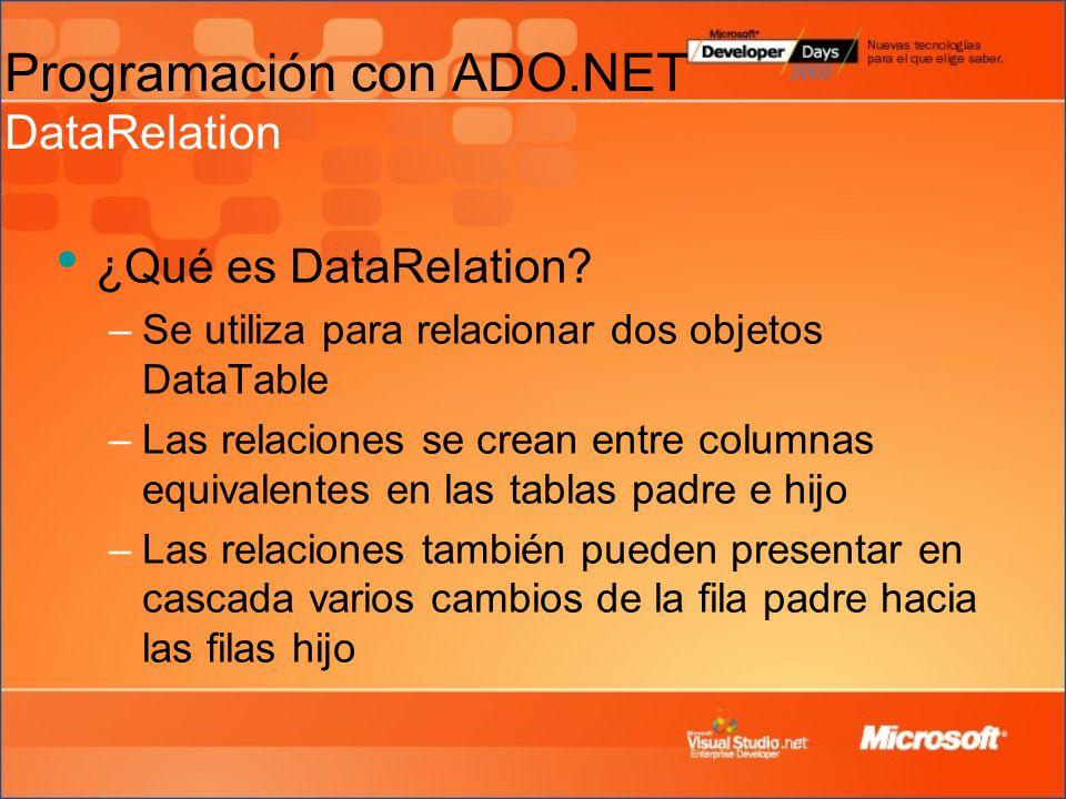 ¿Qué es DataRelation.