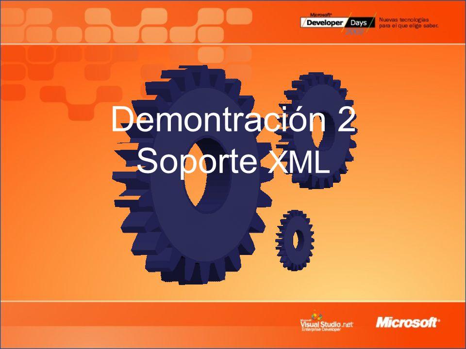 Demontración 2 Soporte XML