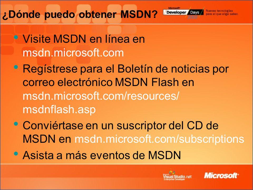 ¿Dónde puedo obtener MSDN.