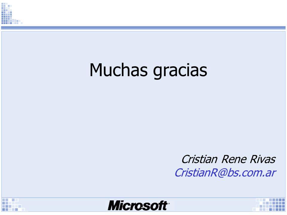 Cristian Rene Rivas CristianR@bs.com.ar Muchas gracias