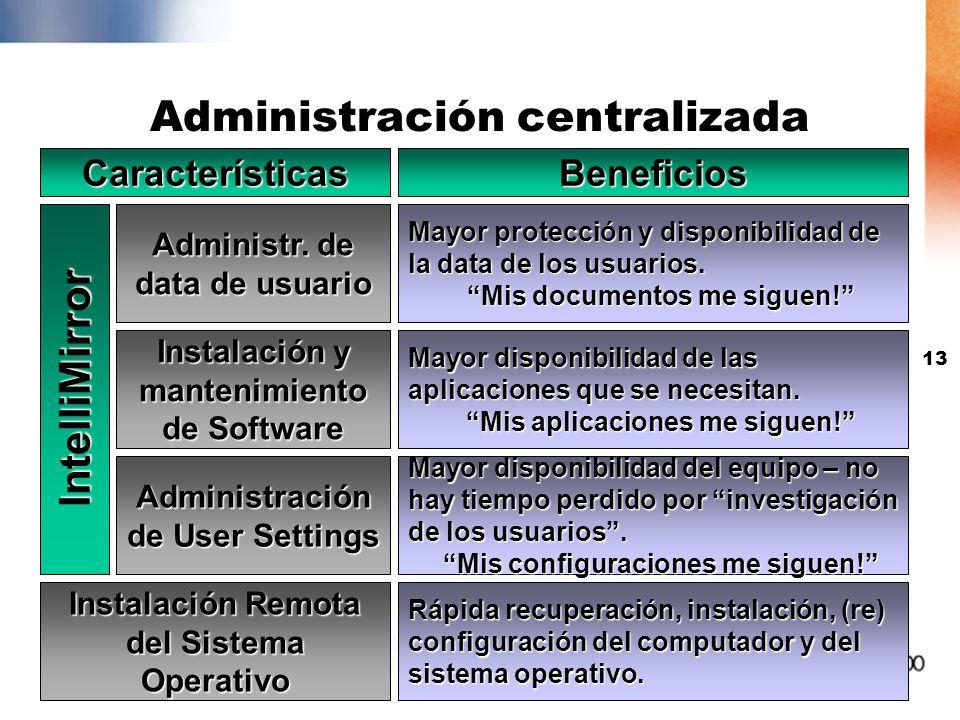 12 IntelliMirror: Utilizando las políticas para facilitar la administración