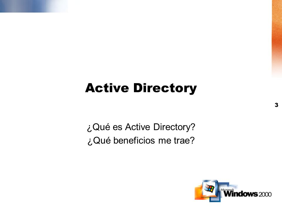 2 Agenda Active Directory Group Policy RIS DFS y FRS Terminal Services Web Distributed Authoring and Versioning Internet Printing Scripting Otros