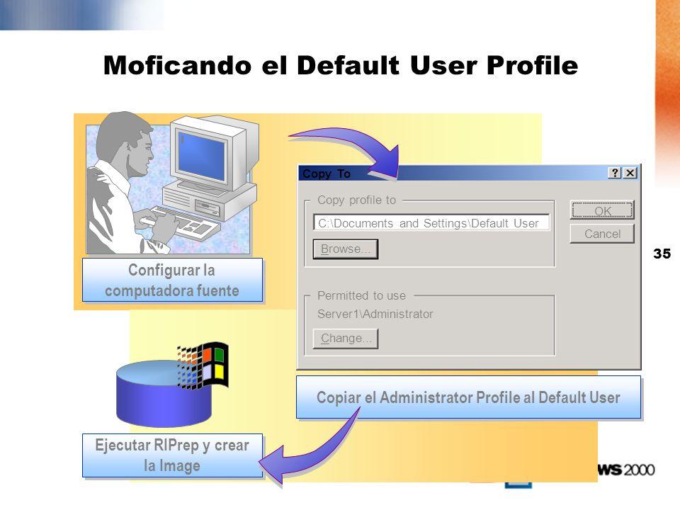 34 Configurando un computador Fuente Instalar Windows 2000 Professional Configurar componentes y opciones Instalar y configurar aplicaciones Probar el