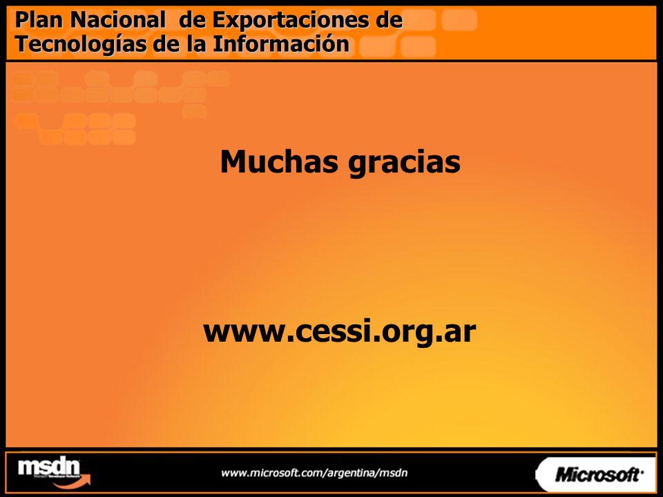 Muchas gracias www.cessi.org.ar